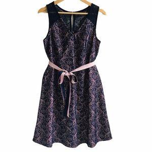 Motherhood Pink and Blue Lace Maternity Dress M